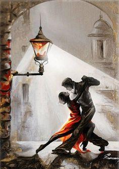 New York Painting, Hand Painting Art, Texture Painting, Diy Painting, Tango Art, Dance Paintings, Art Oil Paintings, Indian Paintings, Abstract Paintings