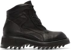 Julius Black Leather Hiking Boots