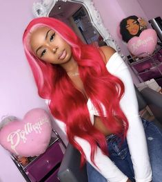 Hair goals and inspiration! Tag a bestie who would love this! Baddie Hairstyles, Black Girls Hairstyles, Pretty Hairstyles, Fashion Hairstyles, Cute Hair Colors, Pretty Hair Color, Wig Styles, Curly Hair Styles, Natural Hair Styles