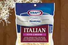 Add a fresh creamy twist to all your Italian recipes with our blend of Mozzarella, Provolone, Romano, Asiago, and Parmesan with cream cheese.