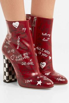 62be08287e60 DOLCE   GABBANA fancy Printed leather ankle boots