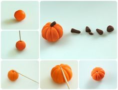 How to make pumpkin cupcake toppers (Sweetopia). Great for fall baking.