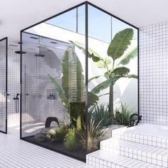 20 Rustic Bathroom Rustic Bathroom Designs 4 - Diy Crafts You & Home Design Interior Garden, Decor Interior Design, Interior And Exterior, Interior Decorating, Decorating Ideas, Interior Plants, Decorating Websites, Interior Colors, Luxury Interior