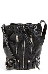 Saint Laurent 'Medium Rider' Leather Bucket Bag