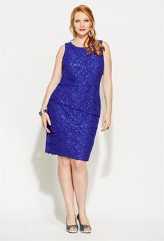 Shift Dress in Lace | Plus Size Special Occasion Dresses | Jessica ...