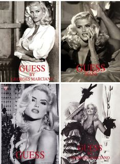 Anna Nicole Smith, Ann Nicole, Anna Smith, Marilyn Monroe Poster, Classy Aesthetic, Vintage Glamour, Guess Jeans, Looks Cool, Classic Beauty