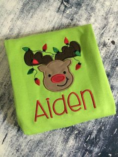 Reindeer with lights onesie or tshirt by AinsleysDesigns on Etsy