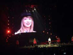 Taylor talking in the crowd! #REDTourMNL