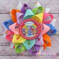 Care Bears Loopy Flower Hair Bow by PixiePretties on Etsy, $6.00