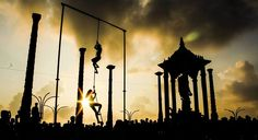Photo: Ramesh Ramu  Yoga Day event in #Pondicherry beach..