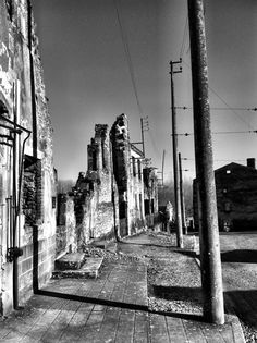 Oradour-sur-Glane, France  Oradour-sur-Glane was a village destroyed by a German military unit in 1944, killing 642 of its inhabitants. Although a new village was built nearby to replace it, today the original village stands as a memorial.  buzzfeed