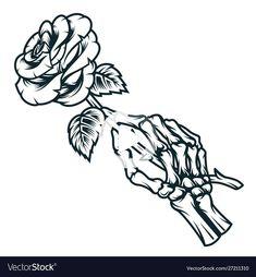 #tattoos #handtattoos Dope Tattoos, Dream Tattoos, Body Art Tattoos, Sleeve Tattoos, Skull Rose Tattoos, Chicano Tattoos, Tatoos, Hand Holding Rose, Hands Holding Flowers