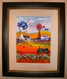 Porchie, via Flickr. Pretty Pics, Pretty Pictures, South African Artists, Windmills, Artist Painting, Anton, Mixed Media Art, Acrylics, Decoupage