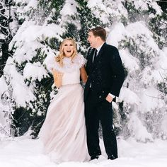 Winter Sky, Winter Love, Winter Bride, Bhldn, All Smiles, Blue Crystals, Embedded Image Permalink, Wedding Day, Couple Photos