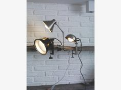BOBBY SILVER Metal Silver metal clamp desk lamp - HabitatUK