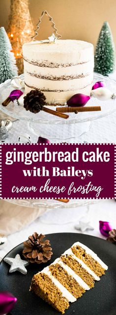 This Gingerbread Cake recipe is perfect for the holidays! A spicy and sweet ginger cake with a delicious Baileys cream cheese frosting. Cupcakes, Cupcake Cakes, Holiday Baking, Christmas Baking, Just Desserts, Delicious Desserts, Cupcake Recipes, Dessert Recipes, Baking Recipes