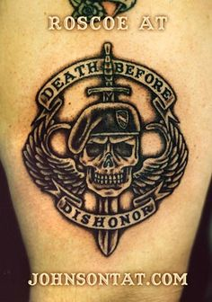 Death Before Dishonor Army Tattoo