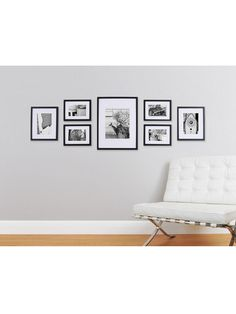 Photo Collage Frames On Wall 43 Pinnacle Gallery Perfect 7 Piece Wall Frame Set Black Wall Frame Set, Frames On Wall, Collage Frames, Gallery Wall Layout, Gallery Photo Frames, Photo Wall Layout, New Wall, My New Room, Picture Frames