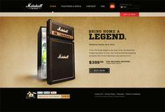Marshall Fridge – Website by Jon MacArthur, via Behance