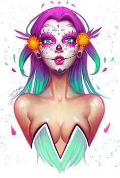 Sugar Skull by AyyaSap.deviantart.com on @DeviantArt
