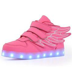 Oferta: 49.99€ Dto: -40%. Comprar Ofertas de KuBua Unisex niños Zapatillas con LED luz USB de Carga de 7 Colores Luminosas Zapatos con Luces Deporte Niñas niños Azul Blan barato. ¡Mira las ofertas!