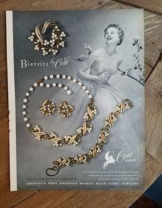 1954 Biarritz by Coro vintage jewelry necklace bracelet pin earrings ad    eBay