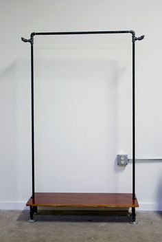 Black pipe rack