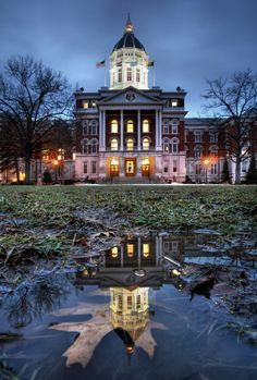 Jesse Hall. University of Missouri, Columbia, MO. Photograph by Notley Hawkins.