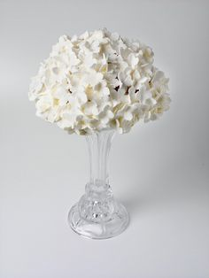 """Hydrangea Cupcake Table Centerpiece    Wedding Designs in our new book """" Cool Cake Toppers"""" by Amanda Rawlins & Caroline Deasy available to pre-order on amazon"""