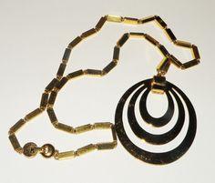 Vintage #Monet Golden Pendant and Necklace by Eosophobish on Etsy