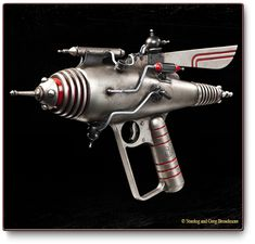 """The crazy geniuses at Weta Workshops produce a line of ray guns called """"Dr. Grodbort's Infallible Aether Oscillators."""""""