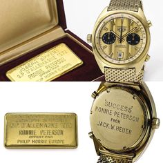 "Late F1 driver Ronnie Peterson's 18k gold Calibre 12 Carrera set a record at Sotheby's auction today selling for $230000 US. It was gifted to him by Jack Heuer after winning the ""Prix Rouge et Blanc Joseph Siffert"" award for his 3rd place performance at the 1972 German GP at Nürburgring. #spiritofspeed ///////////////////////////////// Welcome to @OneHundredand7 focusing on #F1 #enduranceracing #performancecars and the #lifestyle that both inspires and is inspired by them.  One Hundred and 7…"