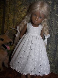 Enchanting White Work Dress Petticoat 4 Sasha Doll | eBay White Work Dresses, Smocked Dresses, Sasha Doll, Doll Outfits, New Dolls, Doll Maker, 21st Century, Enchanted, Countries