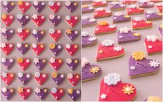 Heart biscuits for the international women right day by Un Jeu d'Enfant