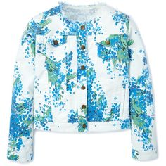 Boden Amanda Jacket ($65) ❤ liked on Polyvore featuring outerwear, jackets, vintage denim jacket, vintage jacket, blue jackets, boden and collarless jacket