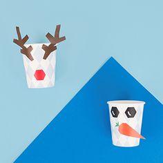 Un do it yourself idéal pour customiser vos pochettes et vos gobelets pour un anniversaire sur le thème Reine des Neiges. Réalisez un renne de noël et un bonhomme de neige pour passer une fête avec Olaf et Sven.