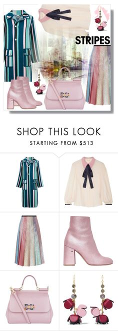 """Stripes on stripes"" by jelena031 ❤ liked on Polyvore featuring M Missoni, Roksanda, Gucci, Laurence Dacade, Dolce&Gabbana, Marni and stripesonstripes"