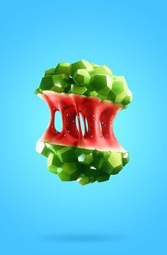 Low Poly Fruits on Behance by Gonzalo Ausejo