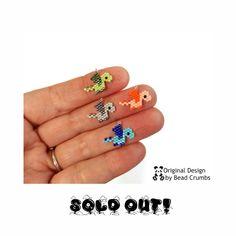 Peyote Stitch Patterns, Seed Bead Patterns, Beading Patterns, Seed Bead Earrings, Seed Beads, Bead Loom Bracelets, Brick Stitch, Loom Beading, String Art