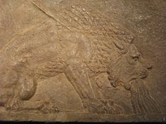 Dying Lion Relief