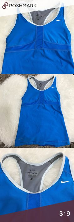 Nike Dri Fit Tank Blue Dri Fit Tank. Excellent preloved condition Nike Tops Tank Tops