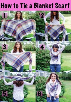How to tie a square blanket scarf to make it look and feel less bulky on MrsCasual.com
