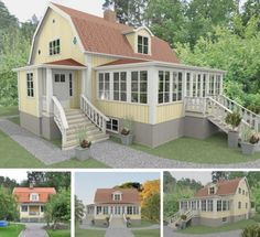Referensobjekt   Dreams & Coffee AB Style At Home, Timber Roof, Gambrel, Dream House Plans, Beautiful Buildings, Home Fashion, Pergola, Sweet Home, Villa