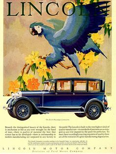 "Lincoln Seven-Passenger Limousine - 1928   Lincoln ""Bird"" advertising series of 1928  Artist: Winthrop Stark Davis"