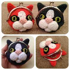 Ravelry: Cat Coin Purse pattern by Laura Sutcliffe