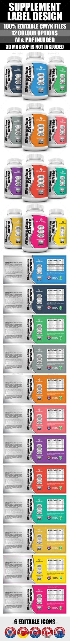 Supplement Label Template Vol-05 Label templates, Print - ingredient label template