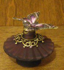 Welforth Perfume Bottle #PB001 PURPLE w/ BUTTERFLY  MIB