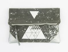 Hey, I found this really awesome Etsy listing at https://www.etsy.com/listing/200900085/triangles-geometrical-printed-pouch