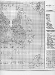 Bunny Birth Sampler 3/5