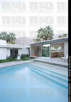 Nivel de Split zona junto a la piscina de Palm Springs